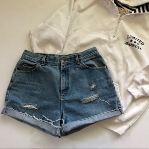 Vintage High waisted distressed shorts